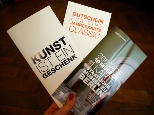 Kunst ist ein Geschenk - Jahreskarte für die Staatlichen Museen Berlin